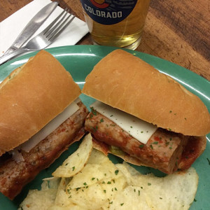 Menu items - sausage sandwich